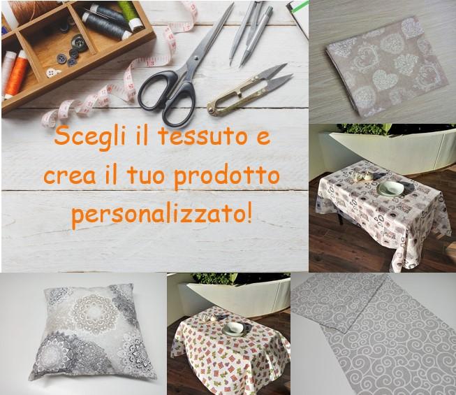 Scegli il tessuto e crea il tuo prodotto personalizzato